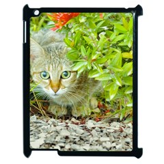 Hidden Domestic Cat With Alert Expression Apple Ipad 2 Case (black)