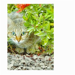 Hidden Domestic Cat With Alert Expression Large Garden Flag (two Sides)