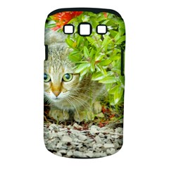 Hidden Domestic Cat With Alert Expression Samsung Galaxy S Iii Classic Hardshell Case (pc+silicone)
