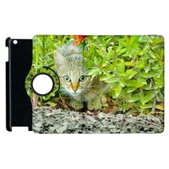 Hidden Domestic Cat With Alert Expression Apple Ipad 2 Flip 360 Case