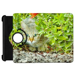 Hidden Domestic Cat With Alert Expression Kindle Fire Hd 7