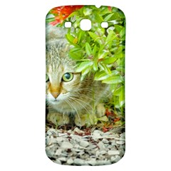 Hidden Domestic Cat With Alert Expression Samsung Galaxy S3 S Iii Classic Hardshell Back Case