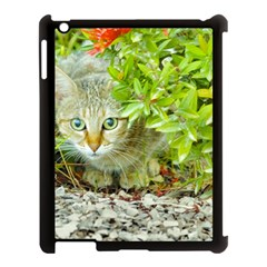 Hidden Domestic Cat With Alert Expression Apple Ipad 3/4 Case (black)