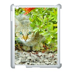 Hidden Domestic Cat With Alert Expression Apple Ipad 3/4 Case (white)