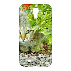 Hidden Domestic Cat With Alert Expression Samsung Galaxy S4 I9500/i9505 Hardshell Case