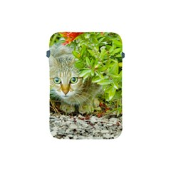 Hidden Domestic Cat With Alert Expression Apple Ipad Mini Protective Soft Cases