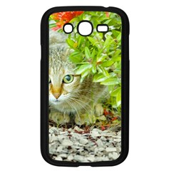Hidden Domestic Cat With Alert Expression Samsung Galaxy Grand Duos I9082 Case (black)