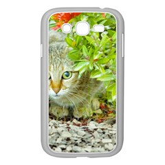 Hidden Domestic Cat With Alert Expression Samsung Galaxy Grand Duos I9082 Case (white)