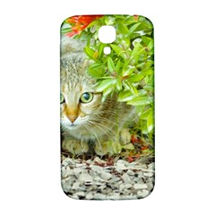 Hidden Domestic Cat With Alert Expression Samsung Galaxy S4 I9500/i9505  Hardshell Back Case
