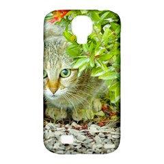 Hidden Domestic Cat With Alert Expression Samsung Galaxy S4 Classic Hardshell Case (pc+silicone)
