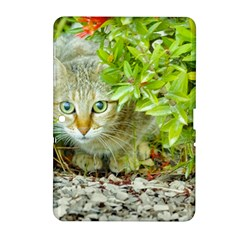 Hidden Domestic Cat With Alert Expression Samsung Galaxy Tab 2 (10 1 ) P5100 Hardshell Case
