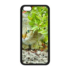 Hidden Domestic Cat With Alert Expression Apple Iphone 5c Seamless Case (black)