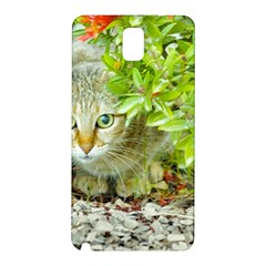 Hidden Domestic Cat With Alert Expression Samsung Galaxy Note 3 N9005 Hardshell Back Case