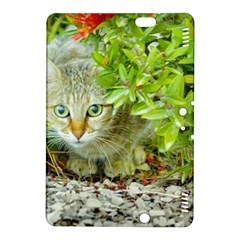 Hidden Domestic Cat With Alert Expression Kindle Fire Hdx 8 9  Hardshell Case