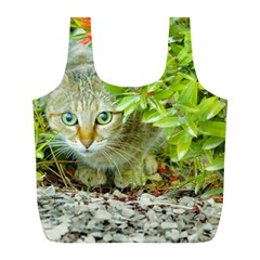 Hidden Domestic Cat With Alert Expression Full Print Recycle Bags (l)
