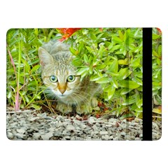Hidden Domestic Cat With Alert Expression Samsung Galaxy Tab Pro 12 2  Flip Case