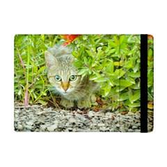 Hidden Domestic Cat With Alert Expression Ipad Mini 2 Flip Cases
