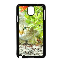 Hidden Domestic Cat With Alert Expression Samsung Galaxy Note 3 Neo Hardshell Case (black)