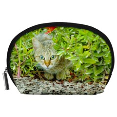 Hidden Domestic Cat With Alert Expression Accessory Pouches (large)