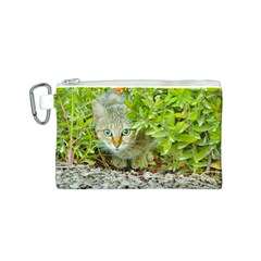 Hidden Domestic Cat With Alert Expression Canvas Cosmetic Bag (s)