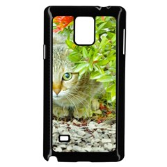 Hidden Domestic Cat With Alert Expression Samsung Galaxy Note 4 Case (black)