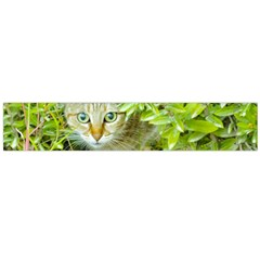 Hidden Domestic Cat With Alert Expression Flano Scarf (large)