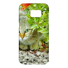 Hidden Domestic Cat With Alert Expression Samsung Galaxy S7 Edge Hardshell Case
