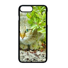 Hidden Domestic Cat With Alert Expression Apple Iphone 7 Plus Seamless Case (black)