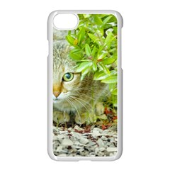 Hidden Domestic Cat With Alert Expression Apple Iphone 7 Seamless Case (white)