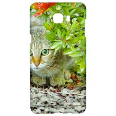 Hidden Domestic Cat With Alert Expression Samsung C9 Pro Hardshell Case