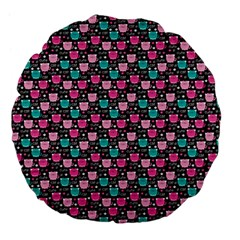 Cute Cats Iv Large 18  Premium Flano Round Cushions