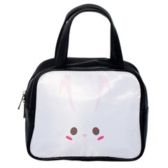Rabbit Cute Animal White Classic Handbags (one Side)
