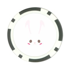Rabbit Cute Animal White Poker Chip Card Guard (10 Pack)