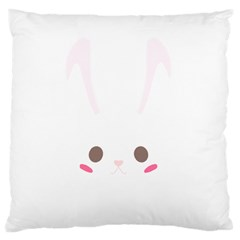 Rabbit Cute Animal White Large Cushion Case (two Sides)