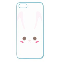 Rabbit Cute Animal White Apple Seamless Iphone 5 Case (color)