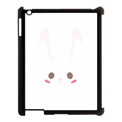 Rabbit Cute Animal White Apple Ipad 3/4 Case (black)