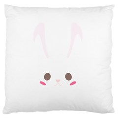 Rabbit Cute Animal White Standard Flano Cushion Case (one Side)