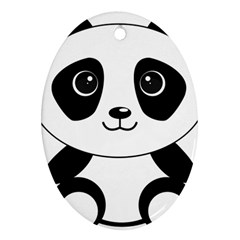 Bear Panda Bear Panda Animals Ornament (oval)