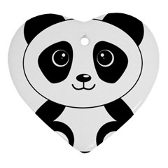 Bear Panda Bear Panda Animals Ornament (heart)