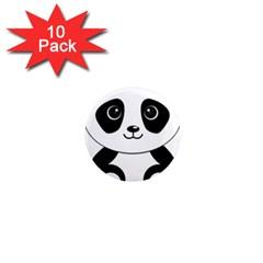 Bear Panda Bear Panda Animals 1  Mini Magnet (10 Pack)