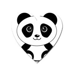 Bear Panda Bear Panda Animals Heart Magnet