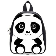 Bear Panda Bear Panda Animals School Bag (small)