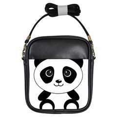 Bear Panda Bear Panda Animals Girls Sling Bags