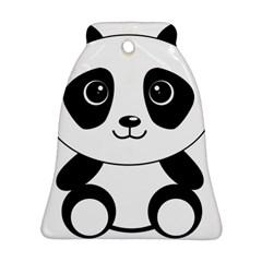 Bear Panda Bear Panda Animals Ornament (bell)