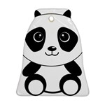 Bear Panda Bear Panda Animals Ornament (Bell) Front