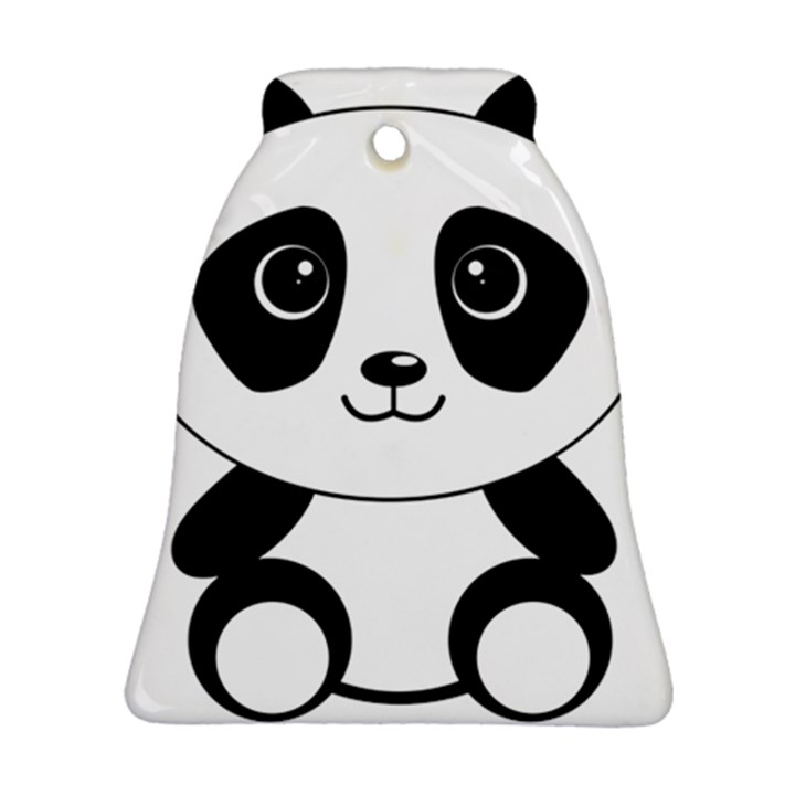 Bear Panda Bear Panda Animals Ornament (Bell)