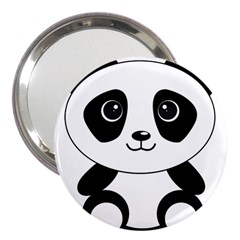 Bear Panda Bear Panda Animals 3  Handbag Mirrors