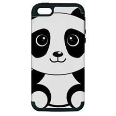 Bear Panda Bear Panda Animals Apple Iphone 5 Hardshell Case (pc+silicone)