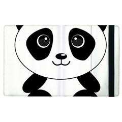 Bear Panda Bear Panda Animals Apple Ipad 3/4 Flip Case