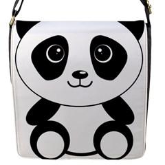 Bear Panda Bear Panda Animals Flap Messenger Bag (s)
